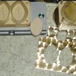 Doppelform für MECCANICHE MODERNE  Seifenpresse