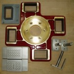 STU/S,die box in BRASS/PHENOLIC-inserts,stainless steel die parts